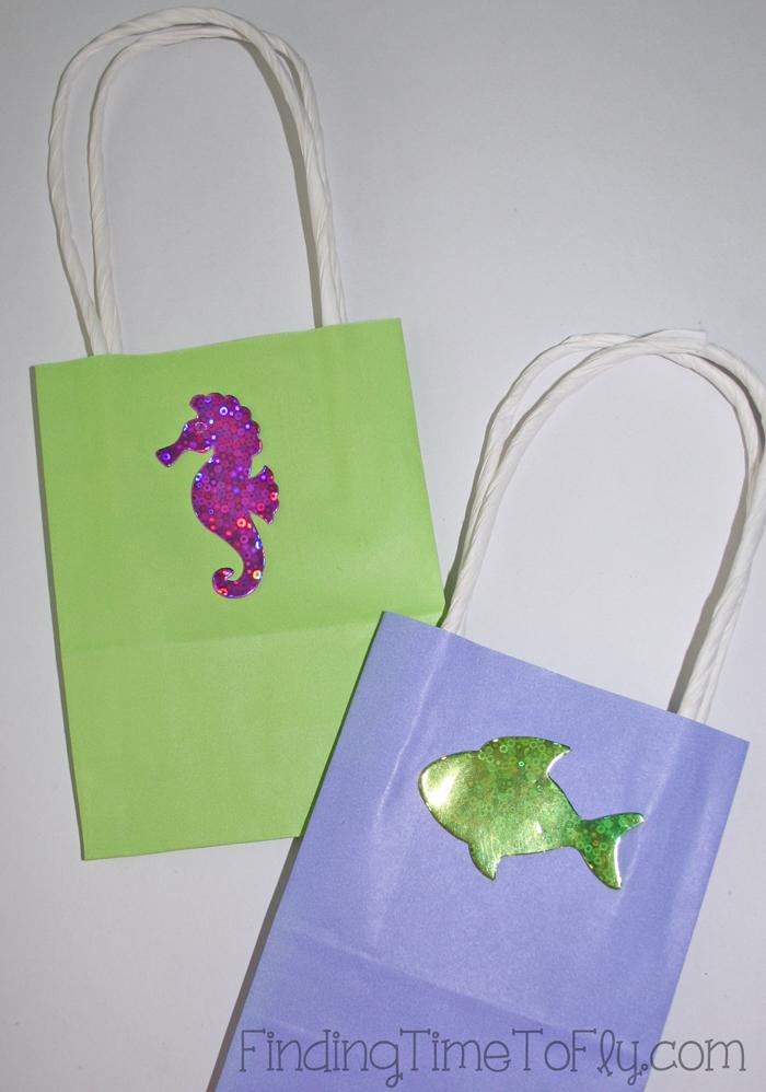 mermaid under the sea gift bags-Detail