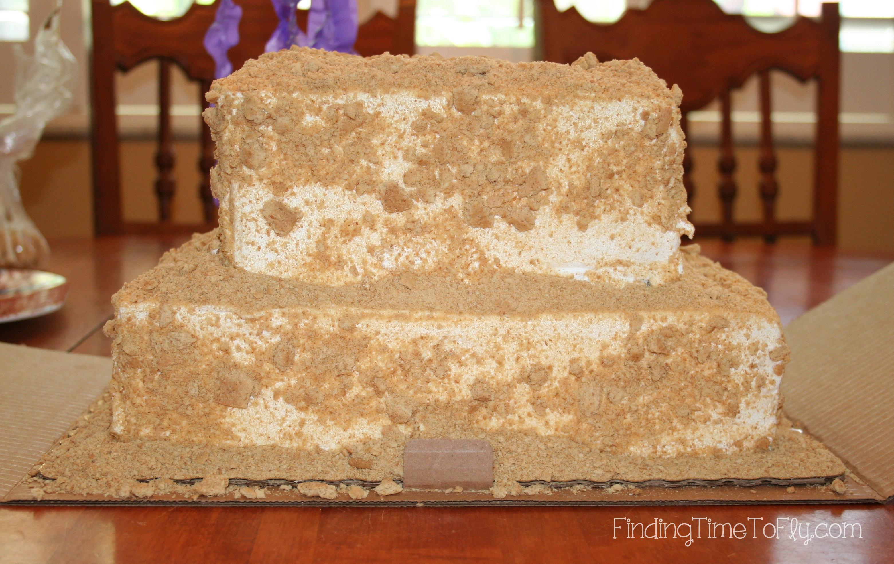 Undecorated Sandcastle Cake