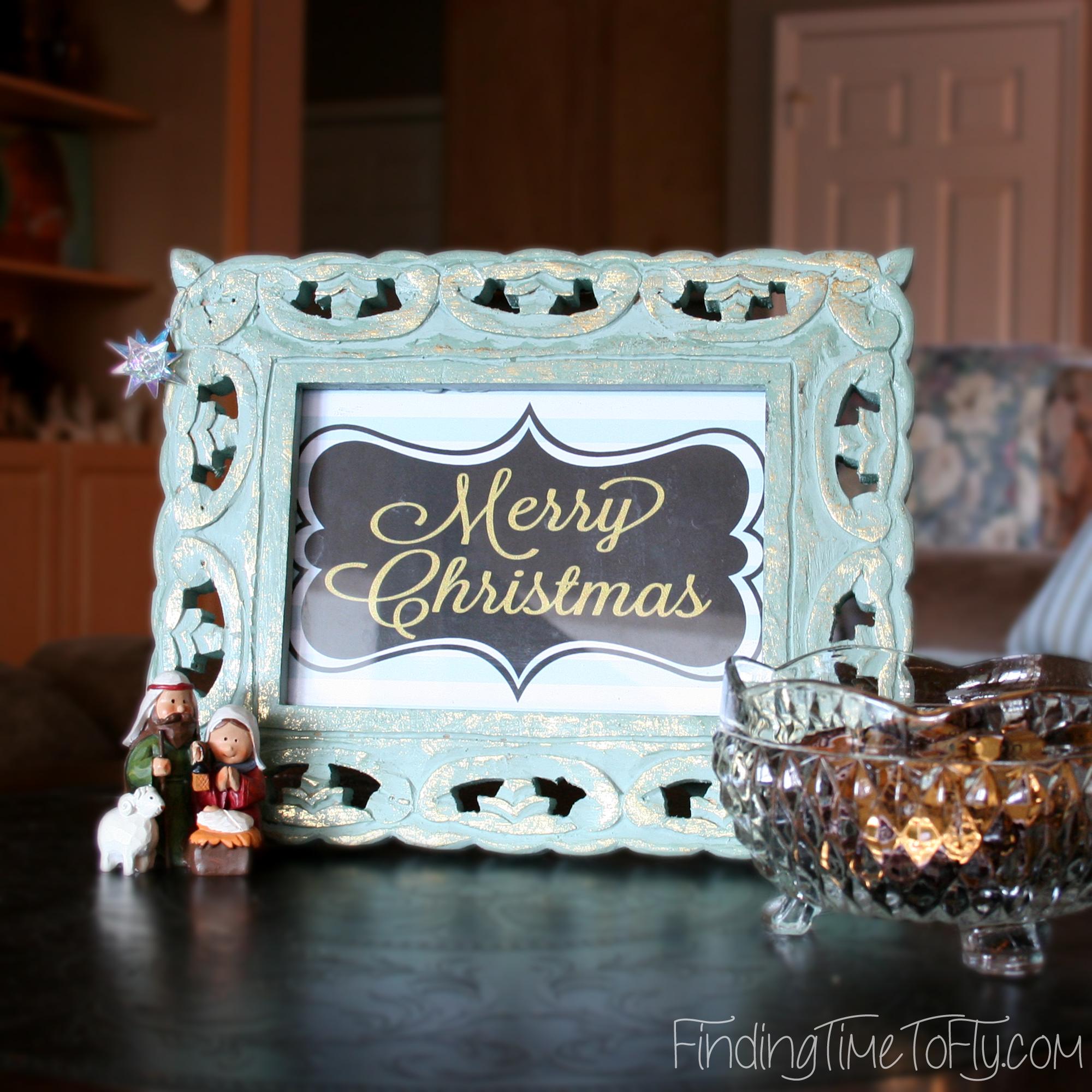 Christmas Printables Blue Merry Christmas