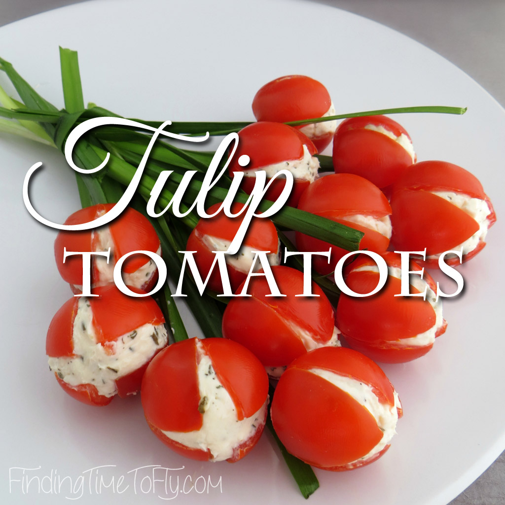 These Tulip Tomatoes would be a great addition to a spring luncheon, brunch or a spectacular side dish for your Easter meal.
