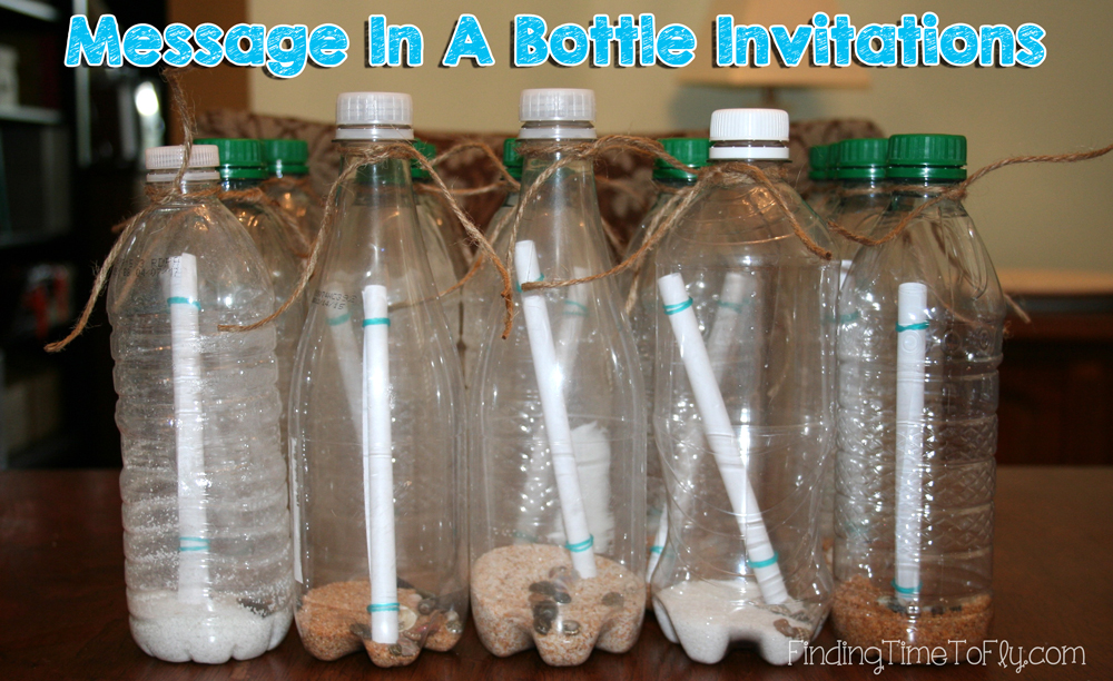 Message in A Bottle Invitations. Instructions and pics.