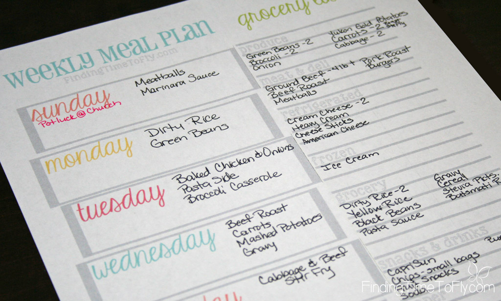 Easy step by step meal planning that will save you time and money. I can do this!