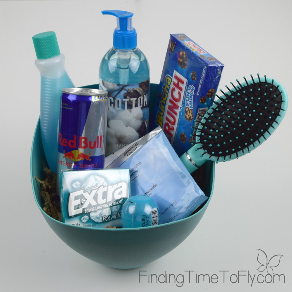 Blue themed basket-1