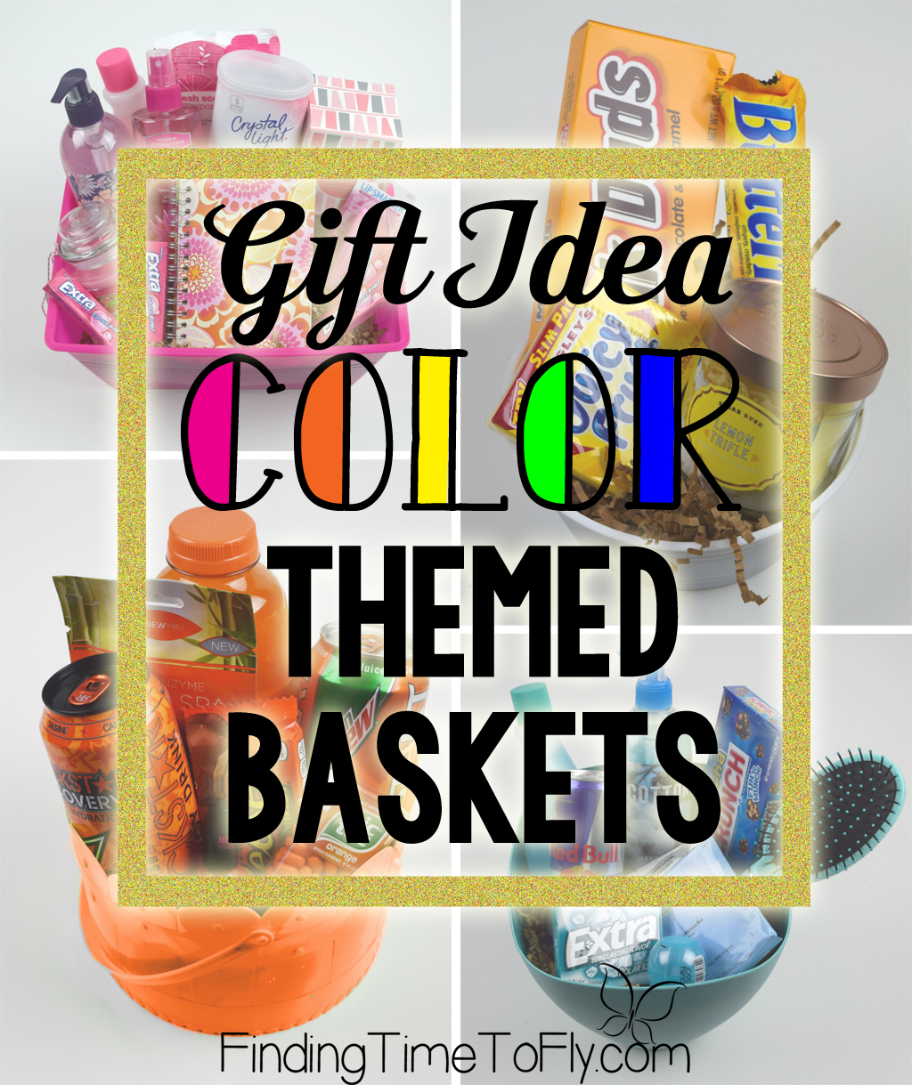 Gift Basket Ideas for anyone. There are some great inexpensive ideas in these baskets, and they are really cute gift ideas!