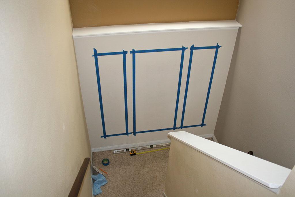 stairway-landing-wall-tape