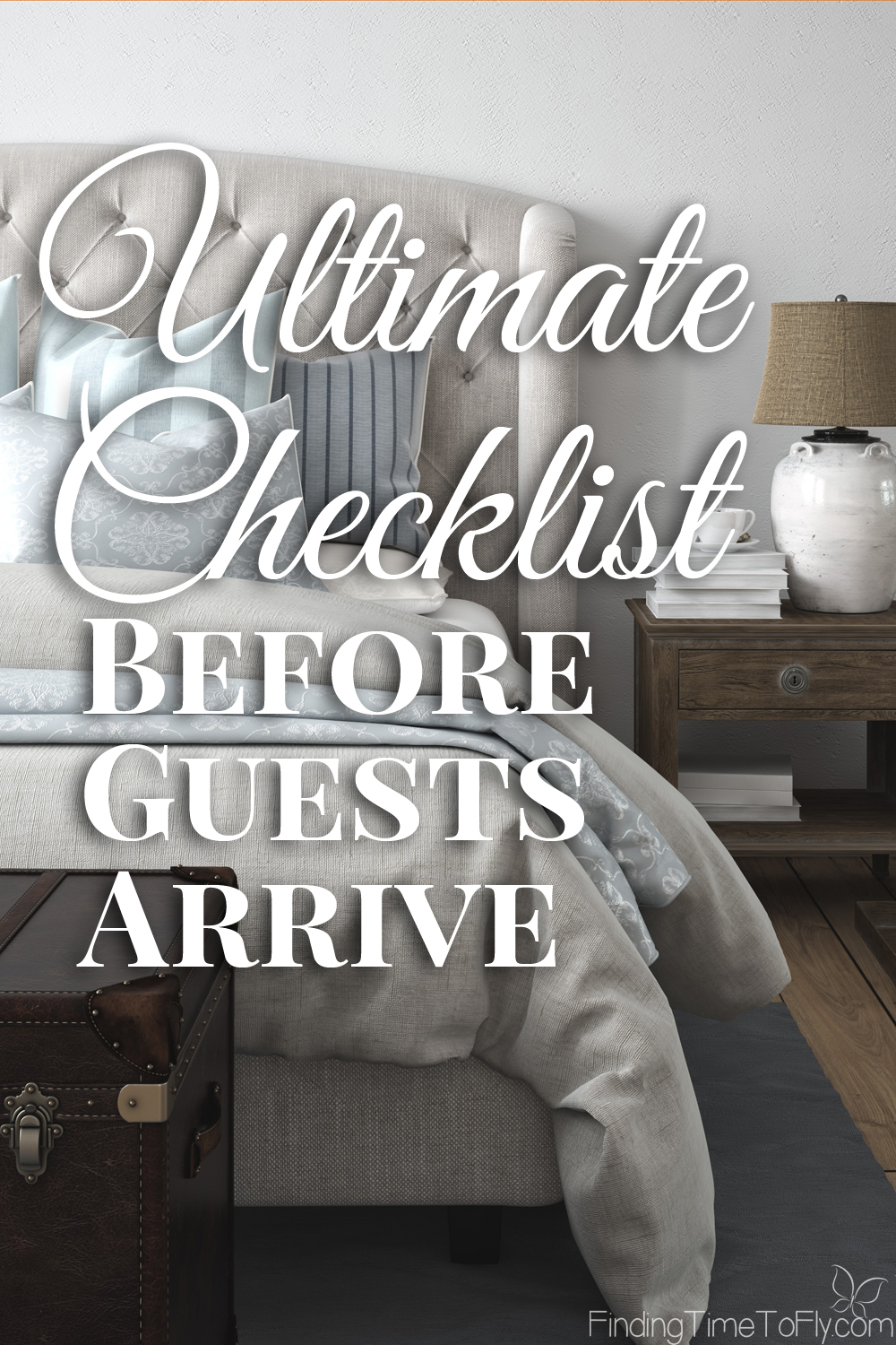 What a complete checklist for preparing for company! Saving this for future use. Ultimate Checklist Before Guests Arrive.