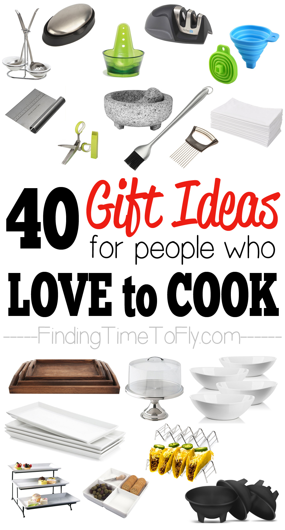 40 Kitchen Gifts and Gadgets that are great gift ideas for people who love to cook!