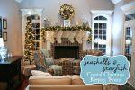 Coastal Christmas Mantle and Keeping Room