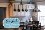 Neutral Coastal Christmas Kitchen with Starfish