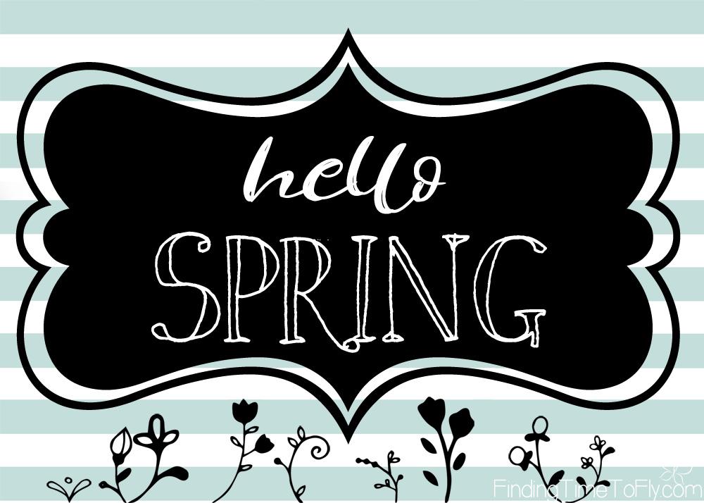 hello spring free printable 5x7