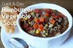 Quick and Easy Hamburger Vegetable Soup