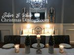 Silver and White Christmas Dining Room