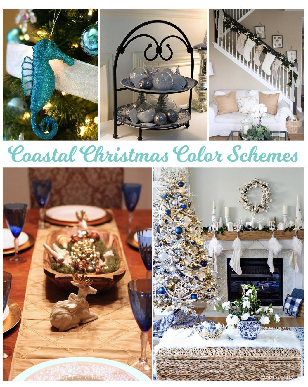 100 Coastal Christmas Decor Ideas - Color Schemes