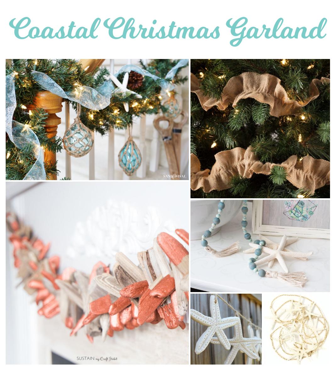 100 Coastal Christmas Decor Ideas - Garland