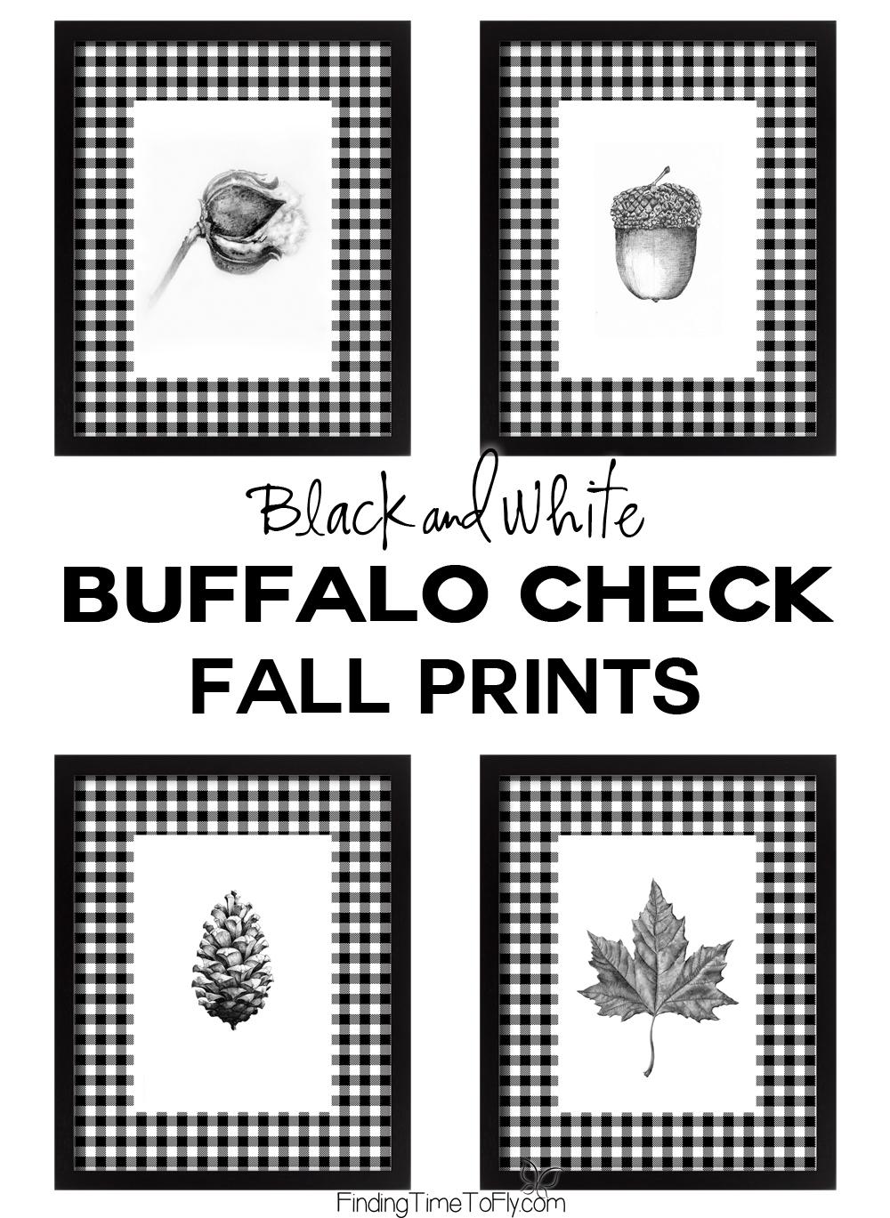 Black and White Buffalo Check Fall Prints
